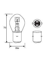 LAMPARA BILUX 12V45/ 40W