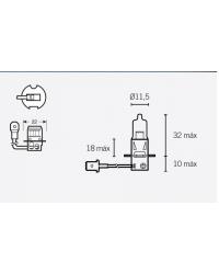 LAMPARA OSRAM HB3 12V 60W P20D HALOGENA