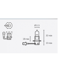LAMPARA OSRAM HB3 12V 60W P20D HALOGENA ECONOMICA