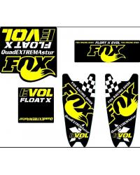 kit vinilos fox  x-evol personalizados